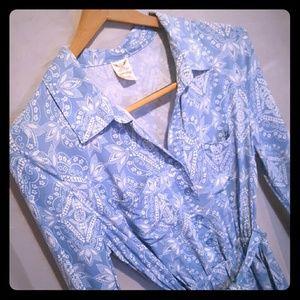 Cute Paisley design 3quarter length sleeve dress